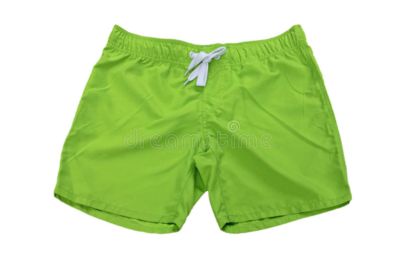 Man's wear – shorts green stock image