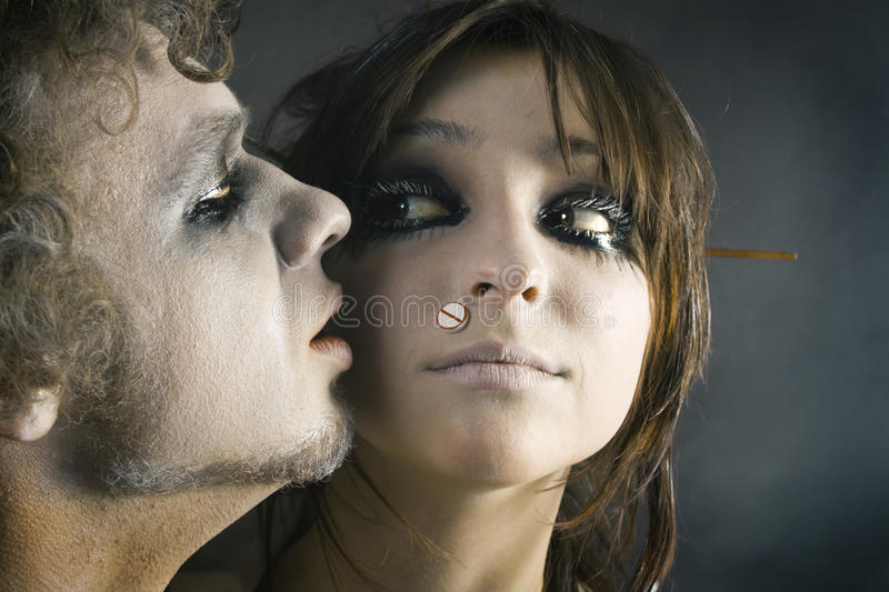 Download Man's and woman's face stock photo. Image of portrait - 13157448