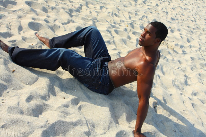 Download Man On The Sand stock photo. Image of adult, athlete, american - 4677728