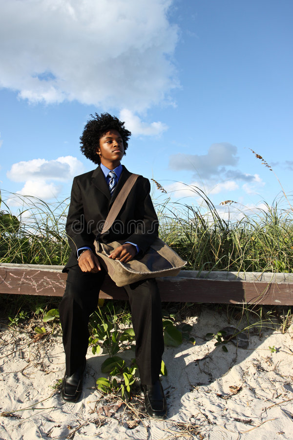 Download Man by sand dunes stock image. Image of business, adult - 7444807