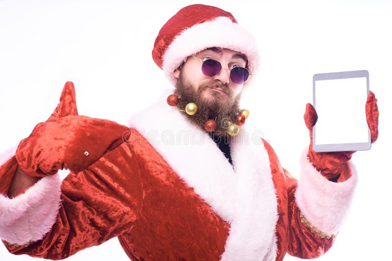 Man in Santa Claus costume royalty free stock image