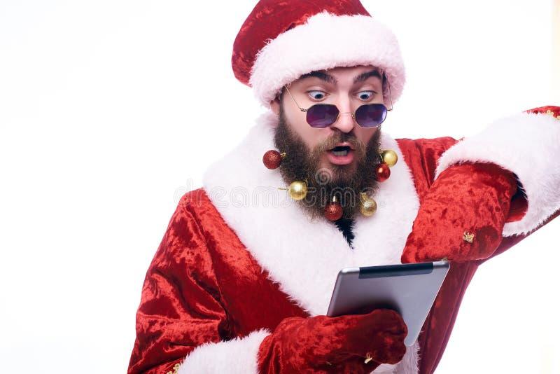 Man in Santa Claus costume stock photos