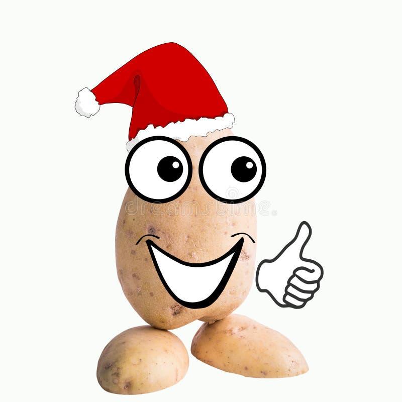 Man Santa Claus för liten potatis stock illustrationer