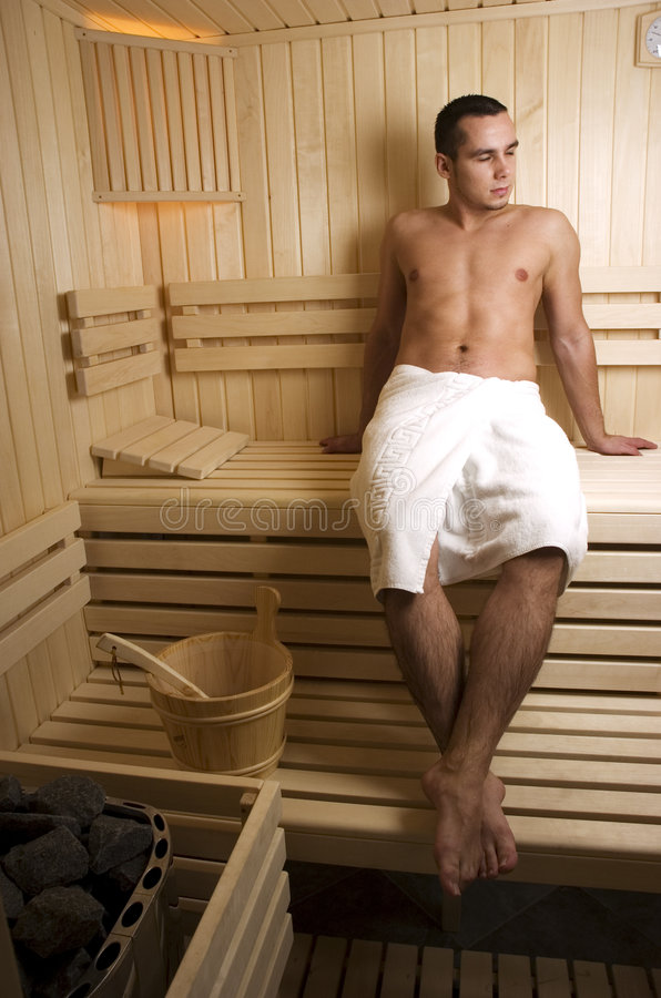 man in sauna stock photo image of chill human leisure 7697148. Black Bedroom Furniture Sets. Home Design Ideas