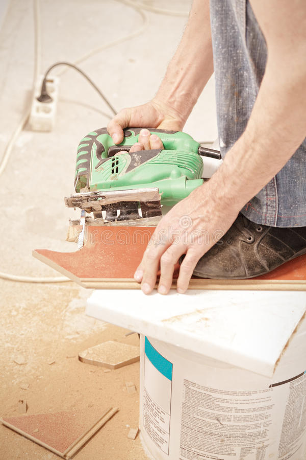 Download Man sawing off plank stock image. Image of body, construction - 24708551