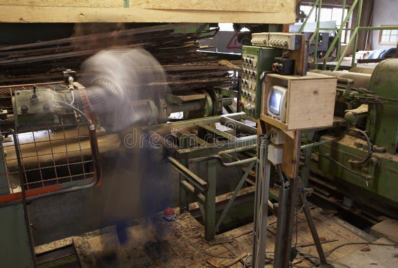 Man at sawmill stock photography