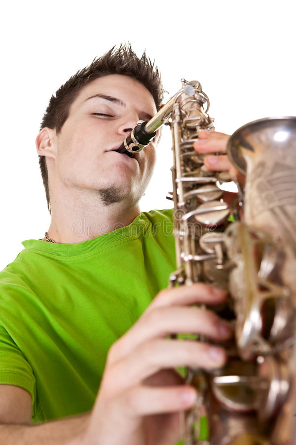 Download Man and sax stock image. Image of portrait, saxophone - 28787063