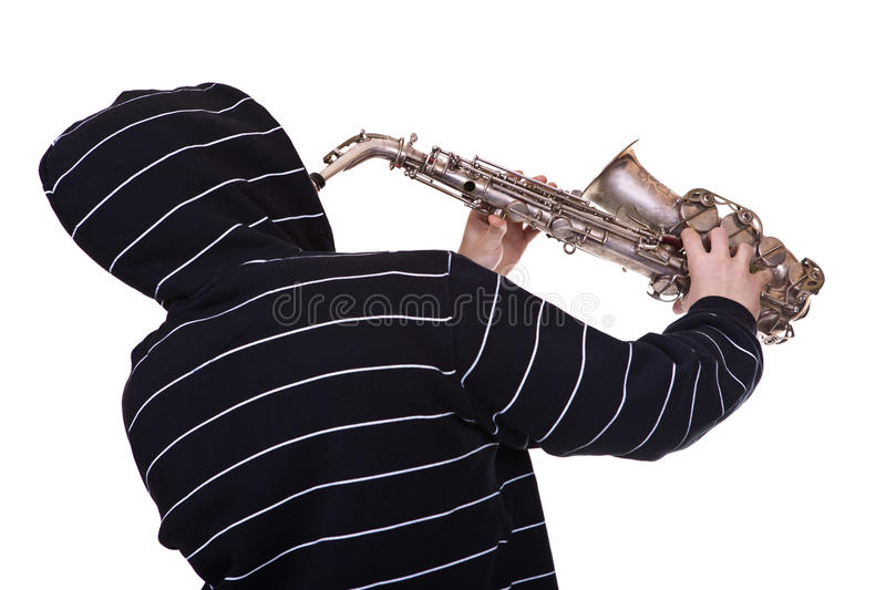 Download Man and saxophone stock image. Image of casual, male - 28787165