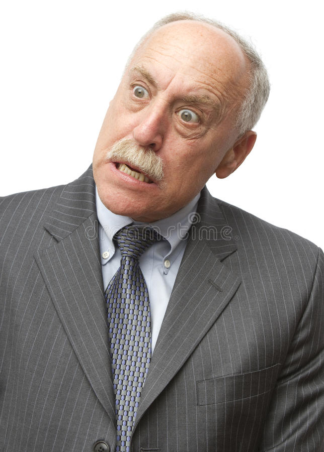 Man Says 'Huh?' royalty free stock photos