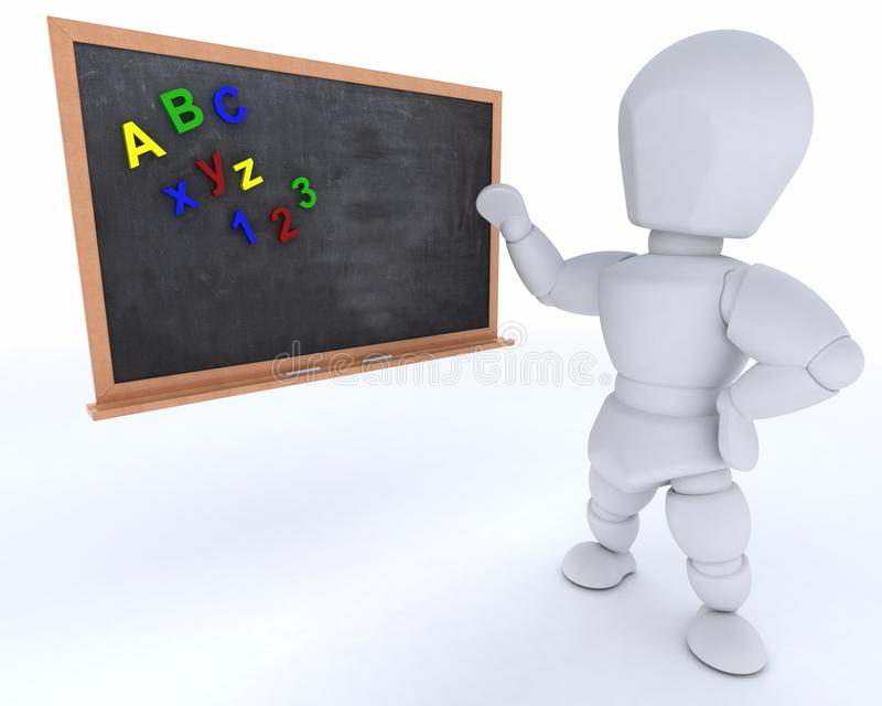 Man with school chalk board back to school vector illustration