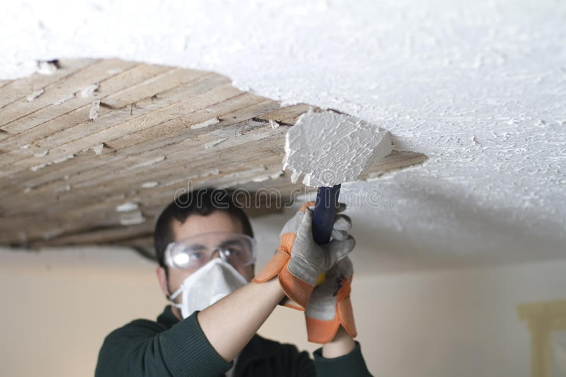 Download Scraping Ceiling Close Up stock photo. Image of residential - 30188270