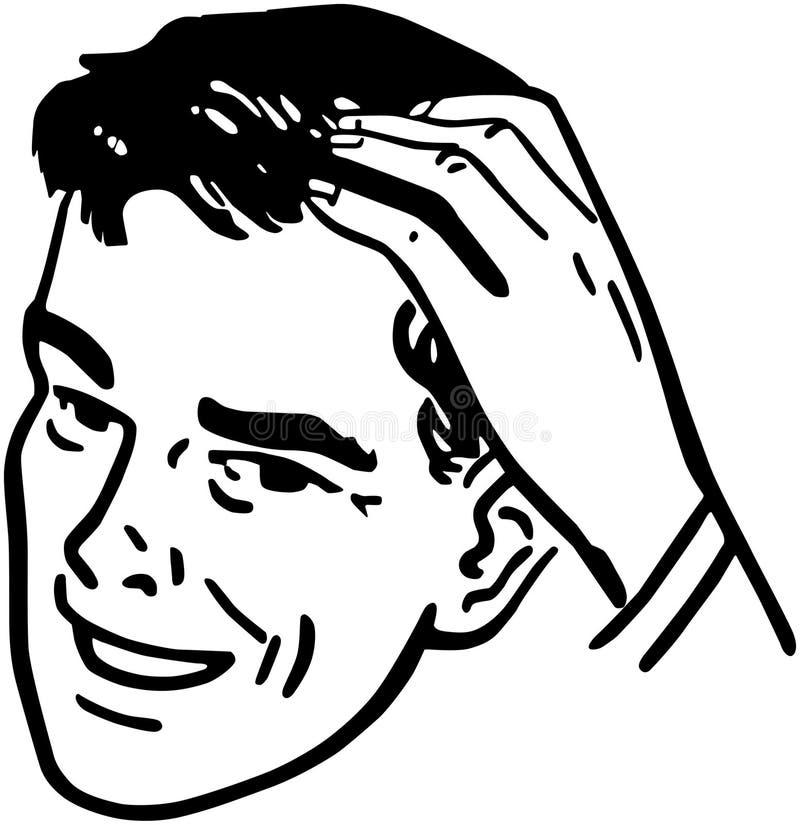 Man Scratching Head vector illustration