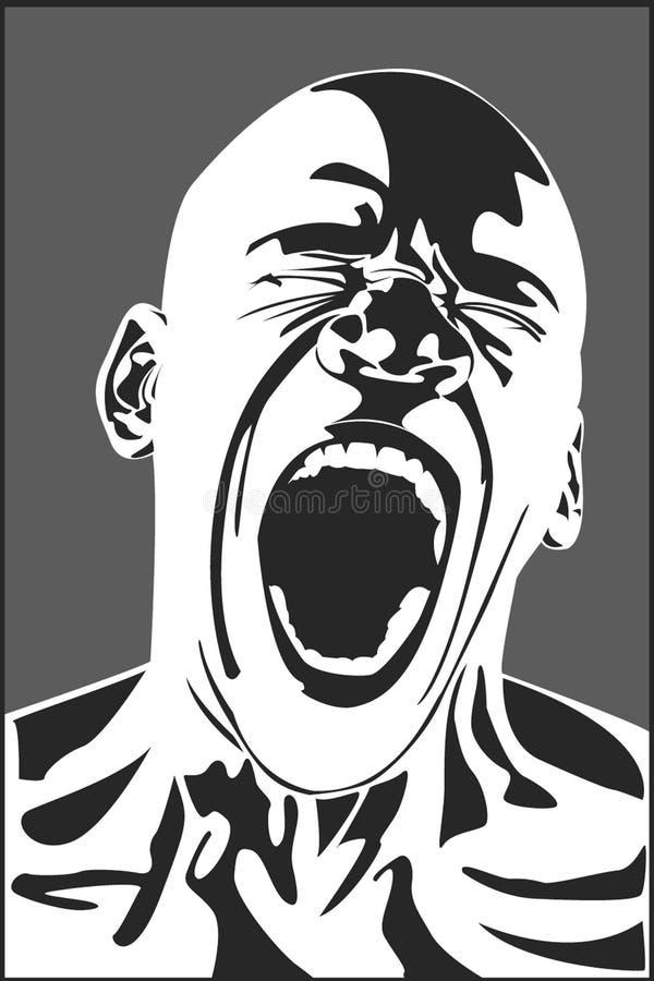 Man screaming stock photography