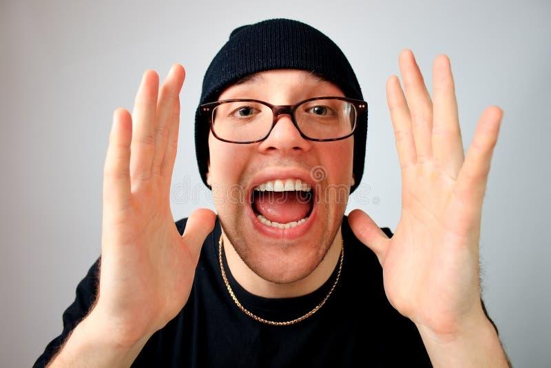 Download Man screaming stock image. Image of facial, fear, shot - 13024471