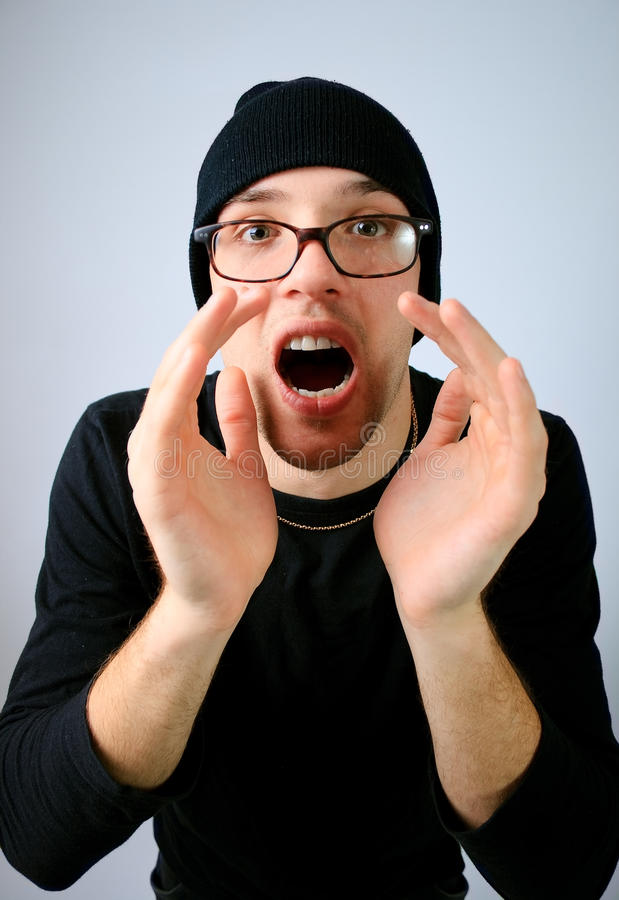 Download Man screaming stock image. Image of isolated, human, male - 13136241