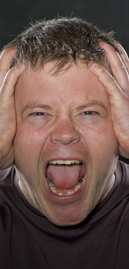 Download Man Screaming stock image. Image of young, portrait, caucasian - 9293077