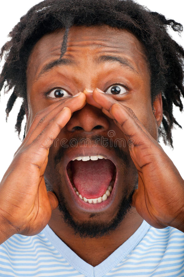 Download Man screaming out loud stock image. Image of american - 23824609