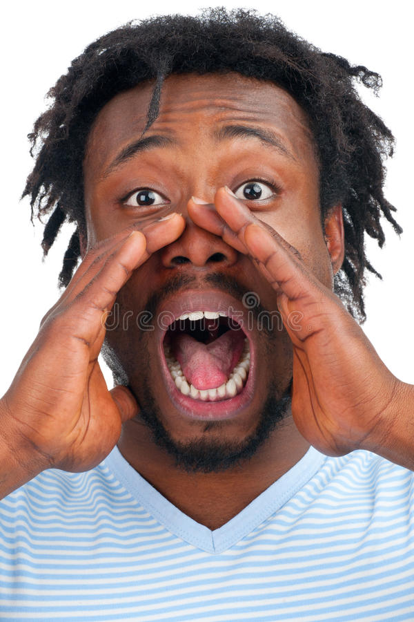 Man Screaming Out Loud Stock Image