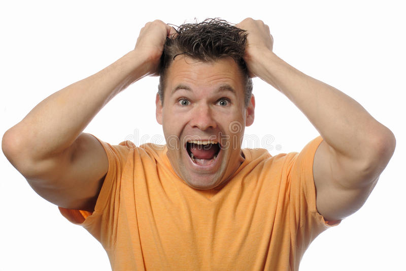 Man Screams Royalty Free Stock Photos