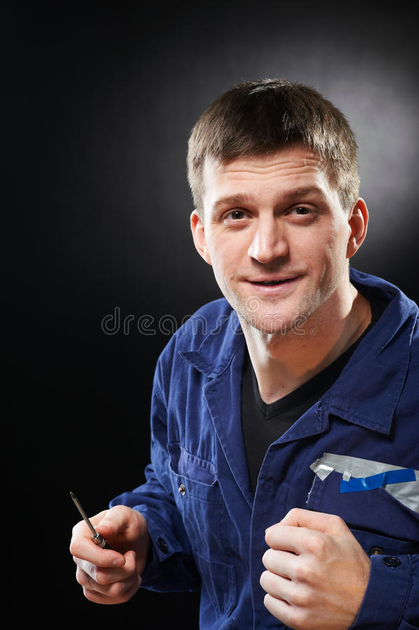 Download Man with screwdriver stock image. Image of home, mechanic - 18548695