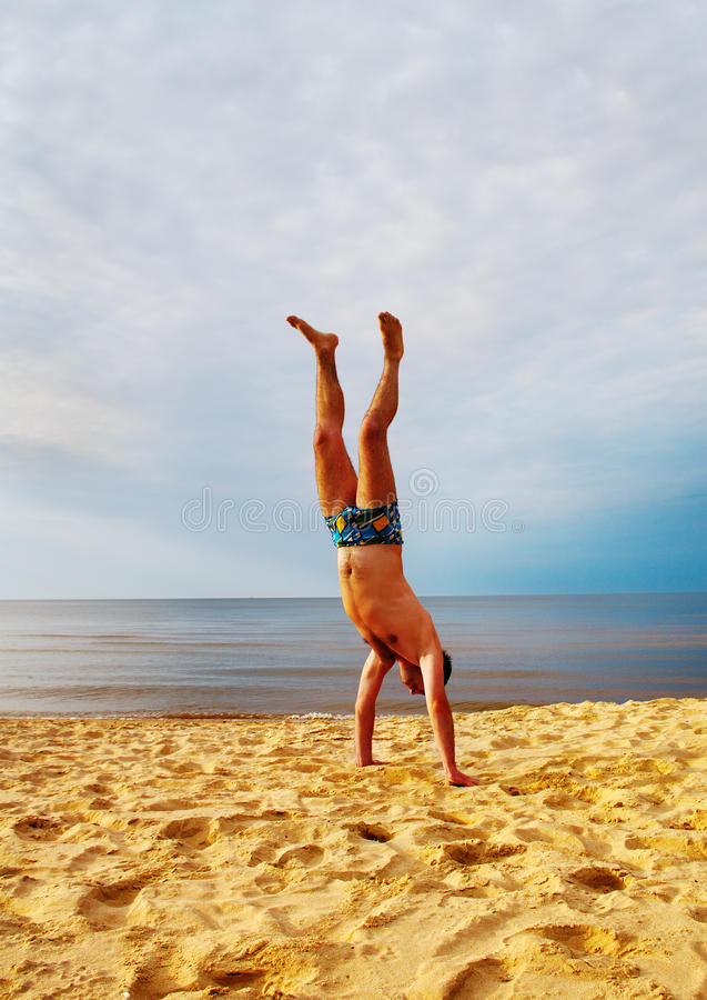 Man at the sea. stock images