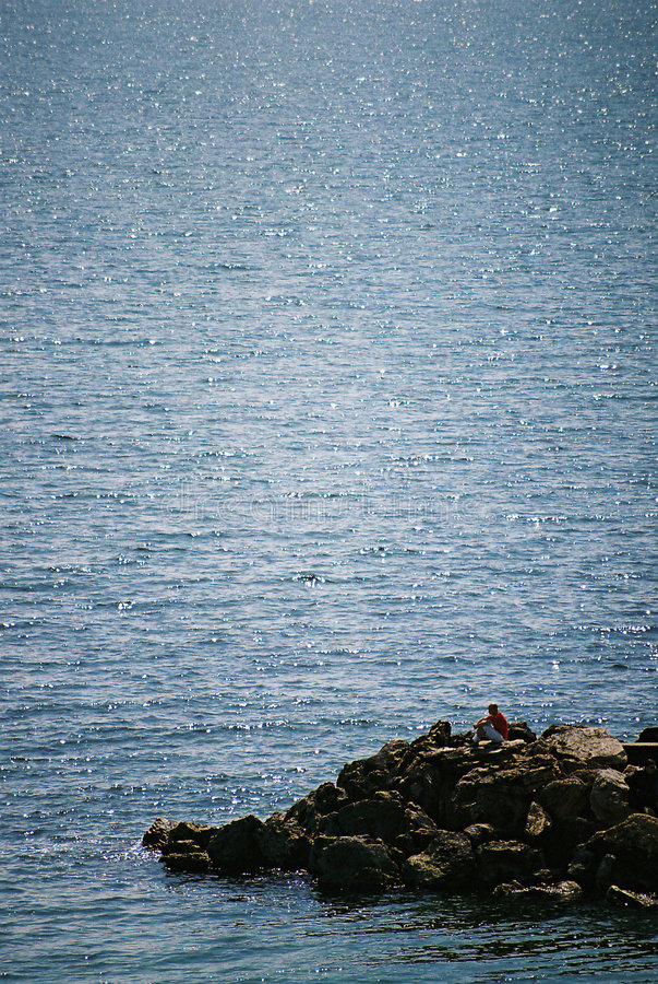 Free Man & Sea Royalty Free Stock Images - 80059