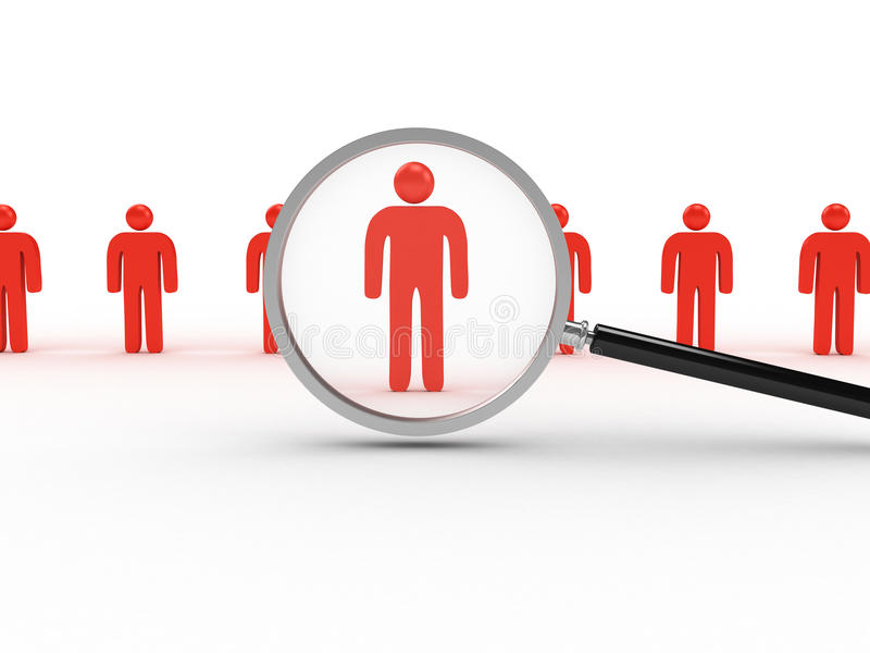 Man Search royalty free stock photography