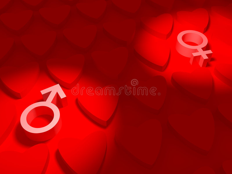 Man search a Woman stock illustration
