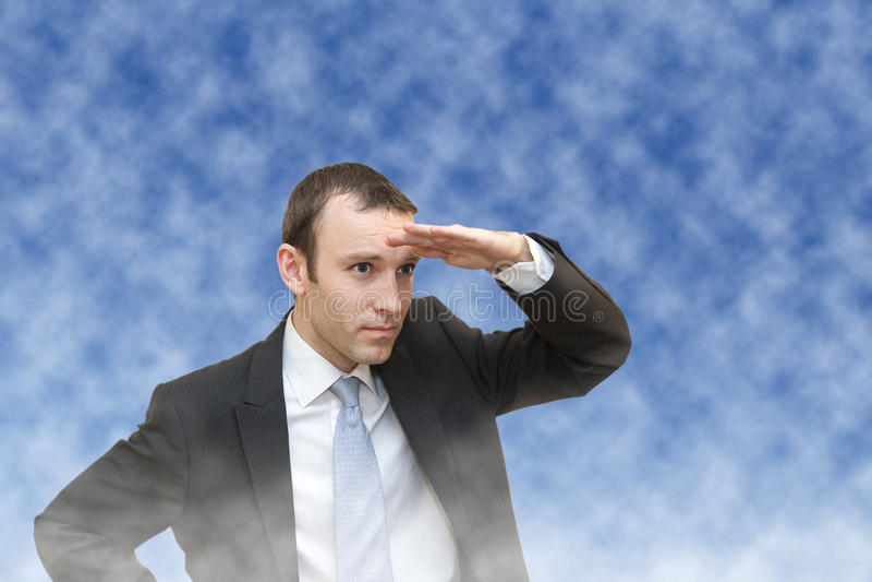 Man searching stock photo