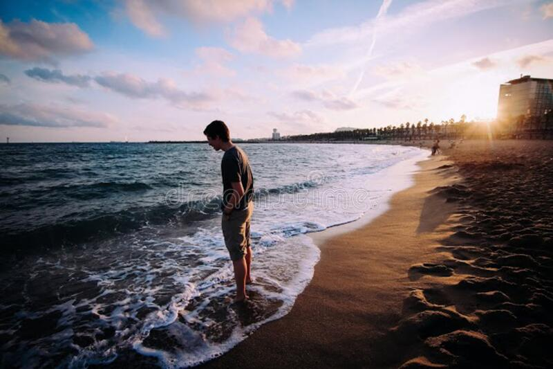 Man At The Seashore Free Public Domain Cc0 Image