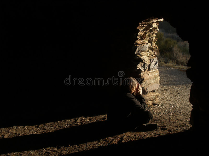 Download Man seeing the light stock image. Image of hole, graceful - 3399061