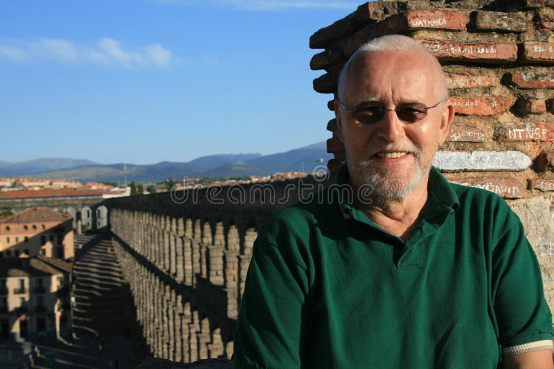 Download Man in Segovia stock photo. Image of city, famous, ruin - 12598468