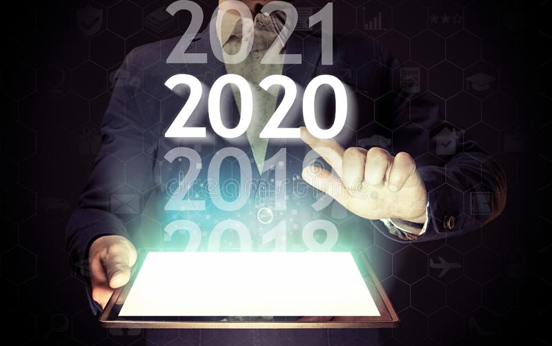 New 2020 year in high tech royalty free stock photos