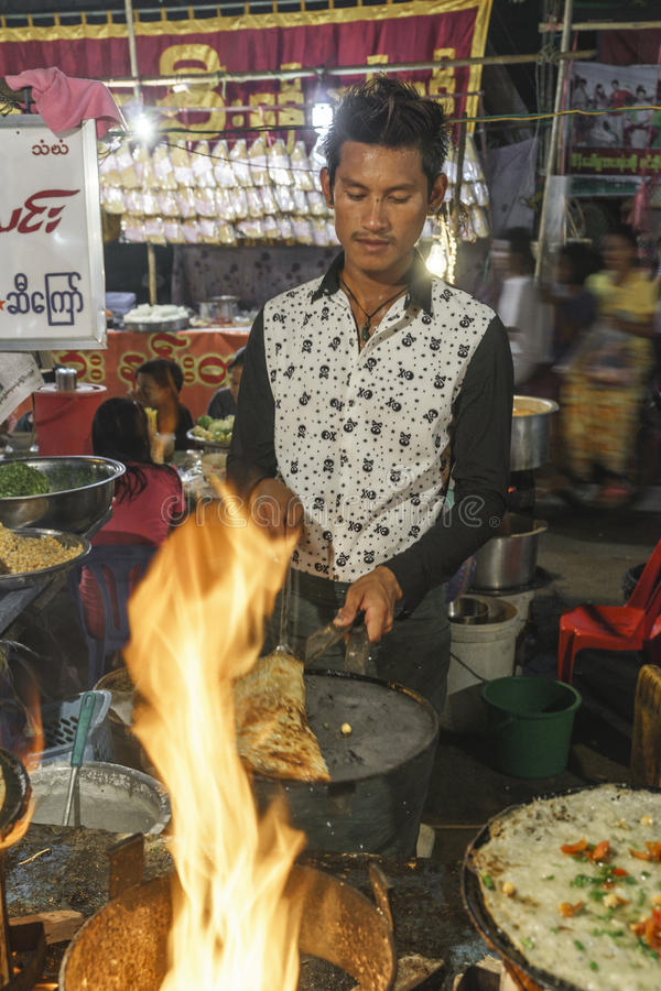 Man selling food stock images