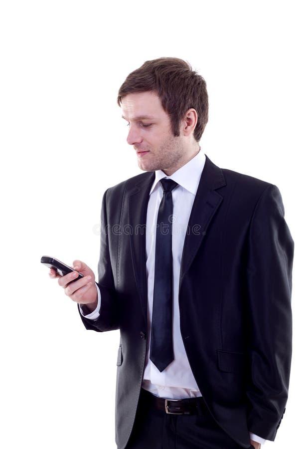 Man sending a text message