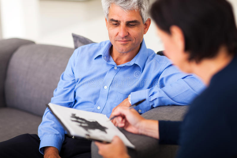Man session therapist stock image