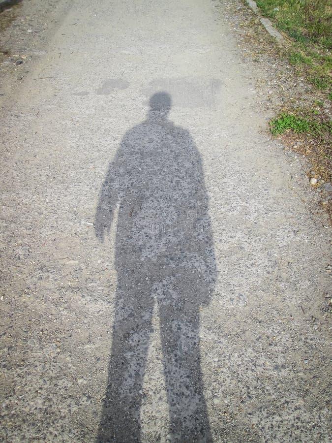 Man shadow stock photo