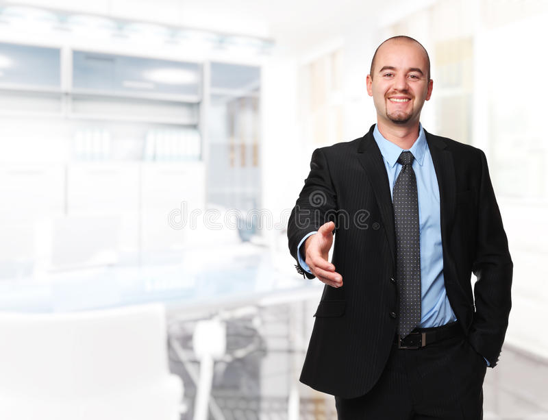 Download Man Shake Hand Royalty Free Stock Photography - Image: 26930437