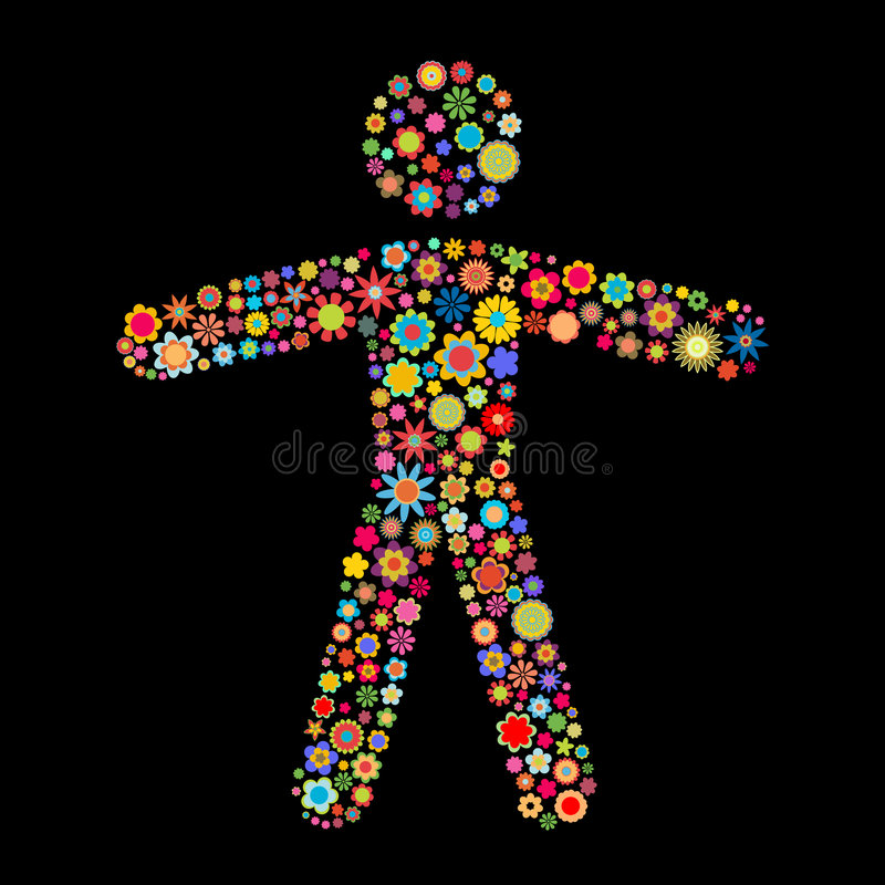 Download Man shape stock vector. Image of daisy, energy, fashion - 7189651