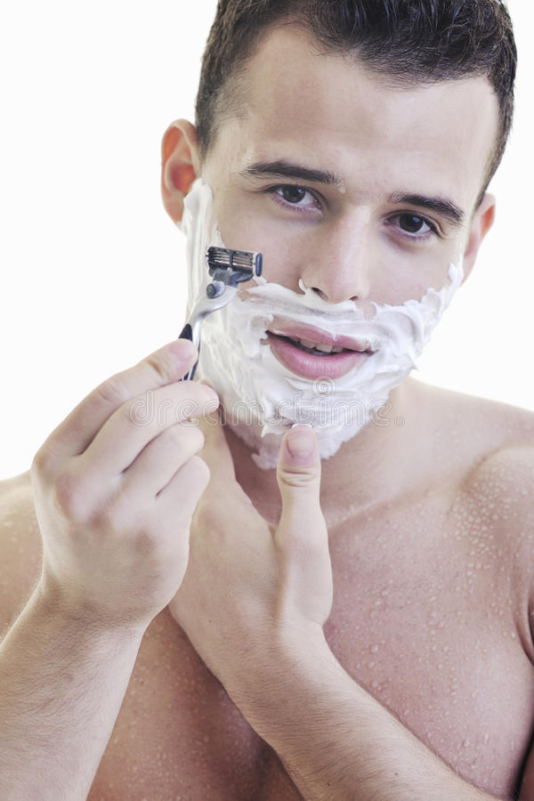 Download Man shave stock image. Image of hygiene, happy, indoors - 14072885
