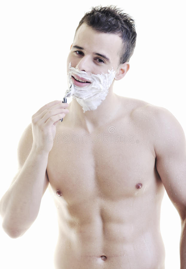 Download Man Shave Stock Photo - Image: 14072900