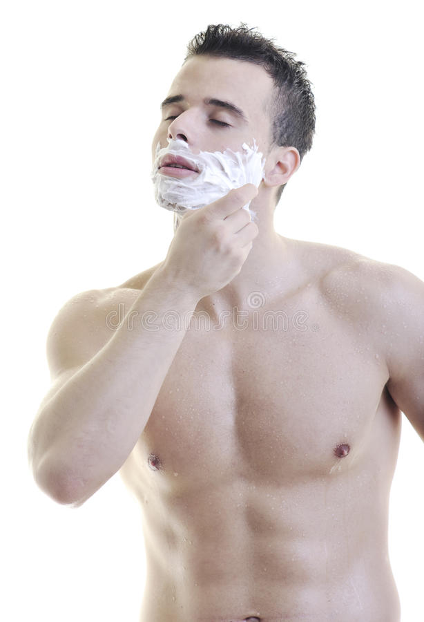 Man shave royalty free stock photo