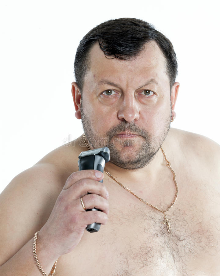 Download Man shaving stock image. Image of shaves, torso, full - 31704129