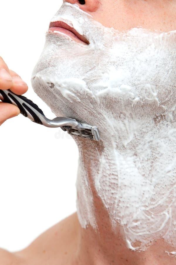 Free Man Shaving With A Razorblade Royalty Free Stock Photo - 13825895