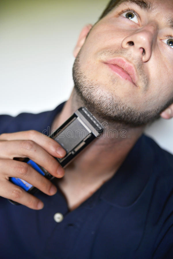 Download Man shaving stock photo. Image of hygiene, shave, beard - 31628680