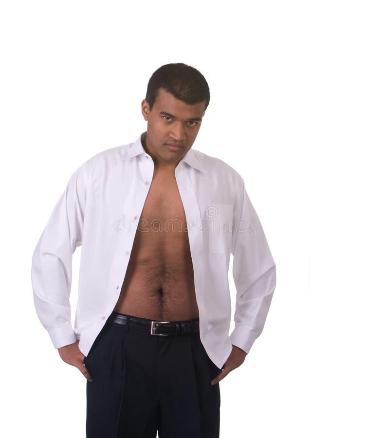 Man Shirt Open Stock Photos