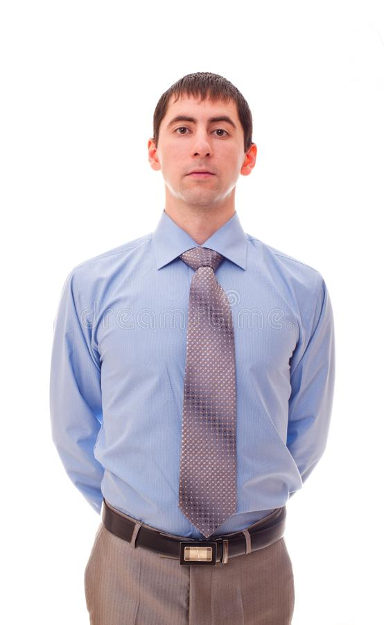 Man in shirt and tie stock photos