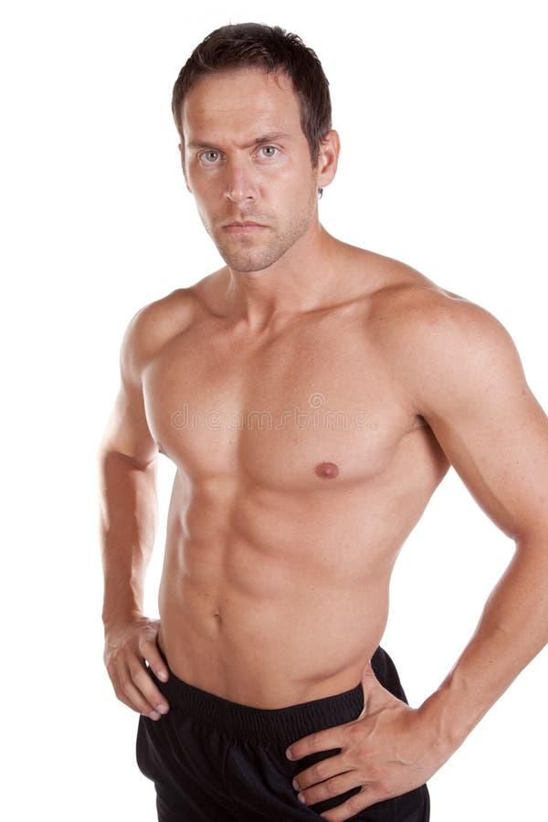 Download Man shirtless serious stock image. Image of biceps, back - 16011805