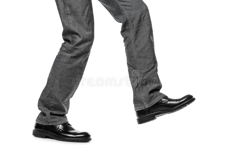 Download Man in shoes walking step stock photo. Image of jeans - 29135368