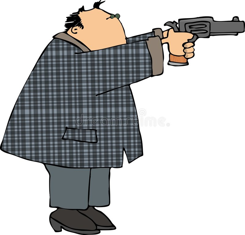 Download Man shooting a pistol stock illustration. Image of pistol - 1153778